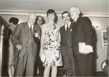 Alessandro Romanelli with Giuseppe Ungaretti, Hotel Flora. 1966.